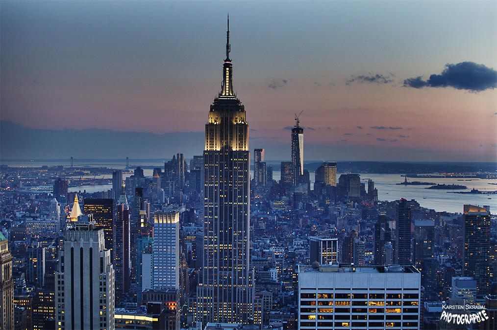 New York beim Sonnenuntergang