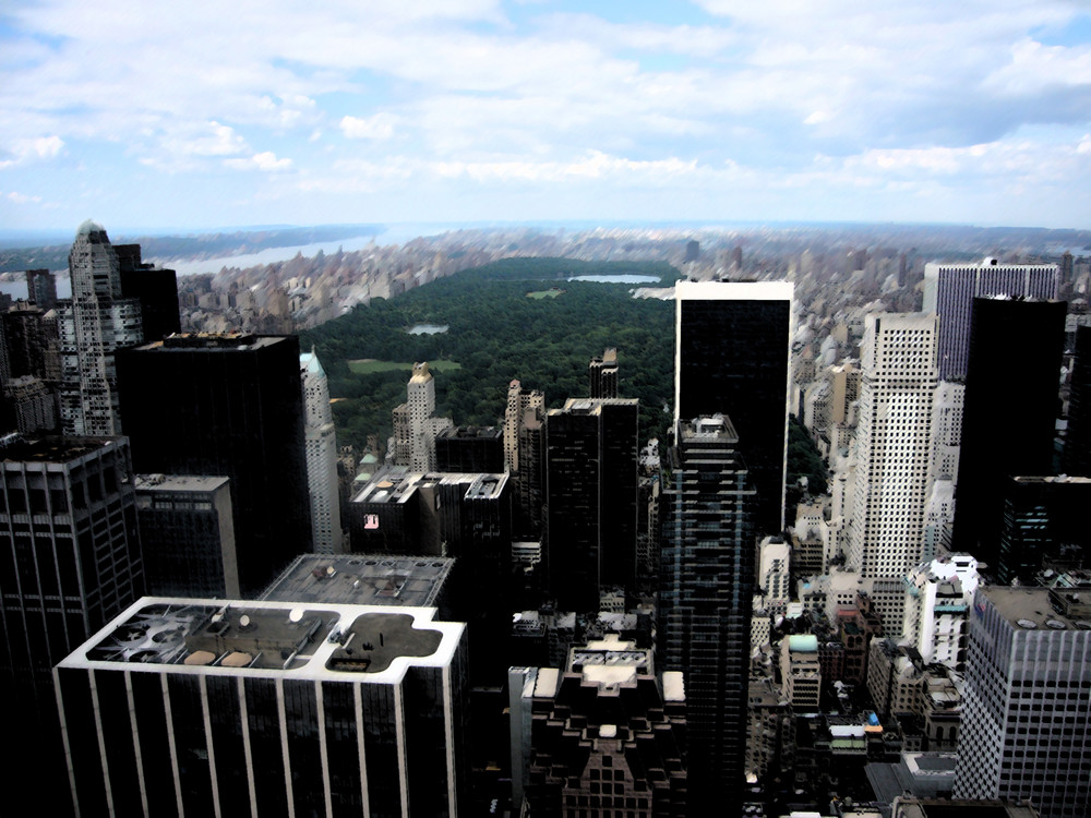 New York - Blick auf Central Park vom Rockefeller Center