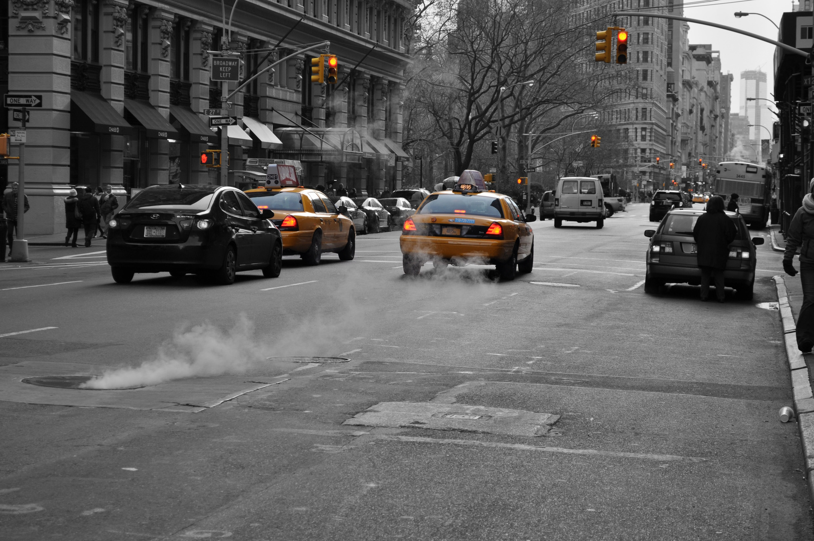 New York City - NYC Taxi - Traffic lights