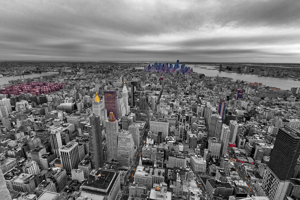 New York City - S/W mit etwas Farbe