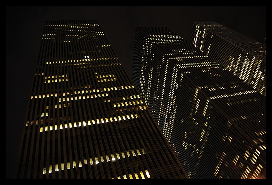 New York City zur späten Stunde