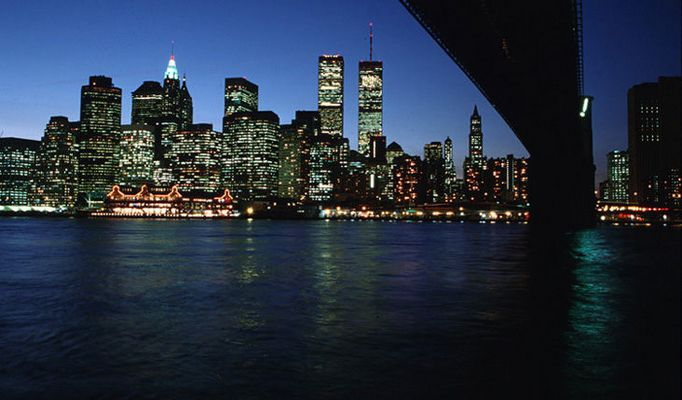 New York Downtown abends