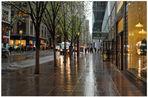 New York, en la 5. avenida, continúa lloviendo