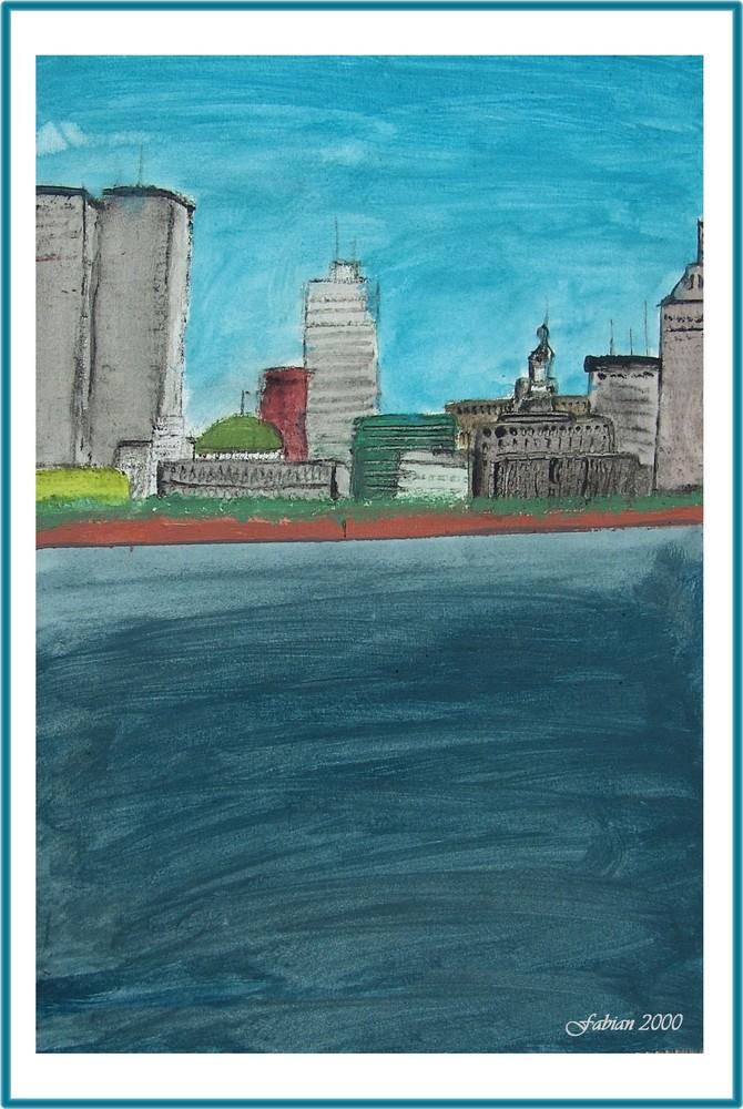 New York mit dem World Trade Center - gemalt von FABIAN aus Lohmar im Rhein-Sieg-Kreis