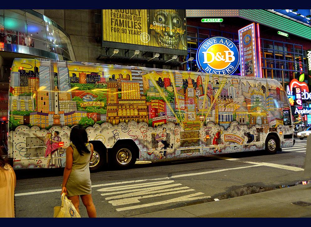 New York on bus