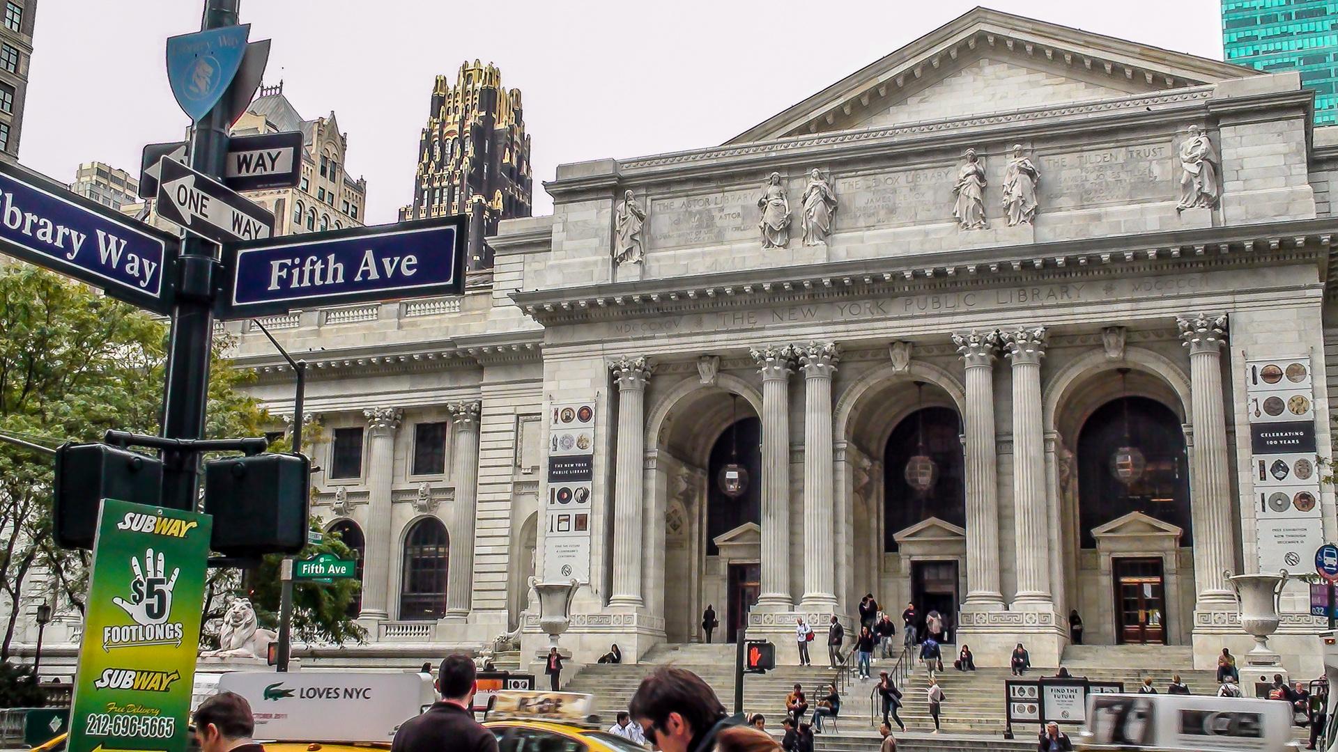 """New York Public Library """"Die wohl bekannteste Bibliothek der Welt - September 2011"""
