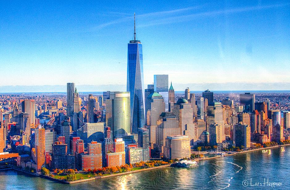 new york skyline aus der luft dri foto bild north. Black Bedroom Furniture Sets. Home Design Ideas