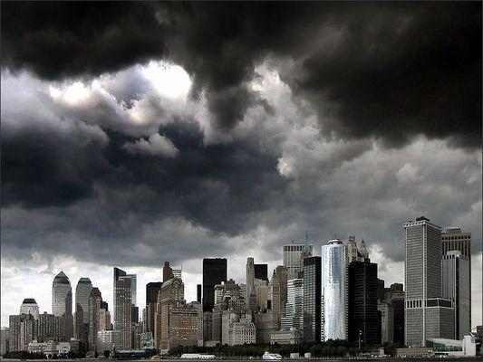 new york ... skyline ... cloudy