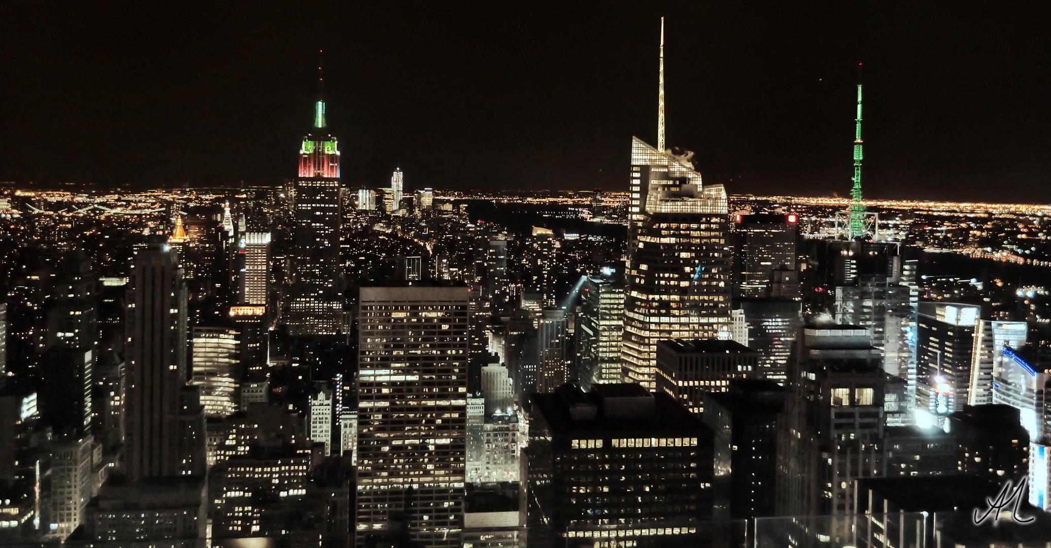 New York Skyline vom Rockefeller Center