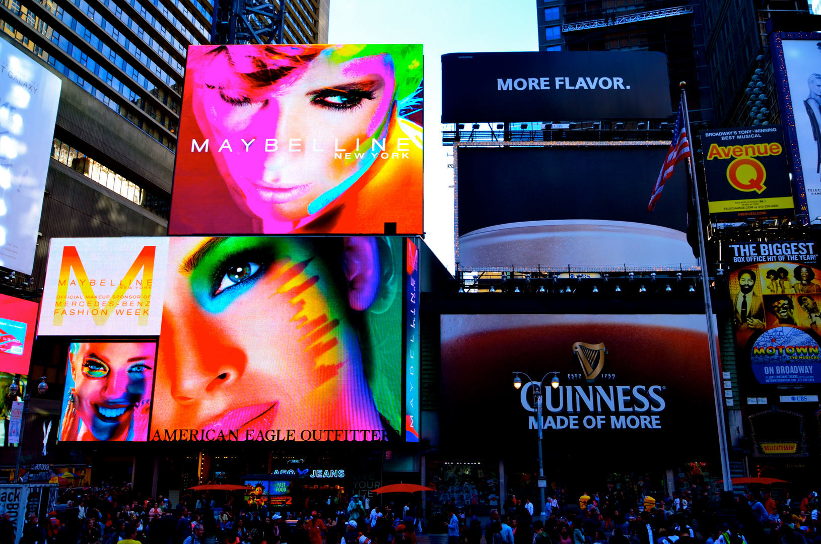 New York Time Square COLORFULL