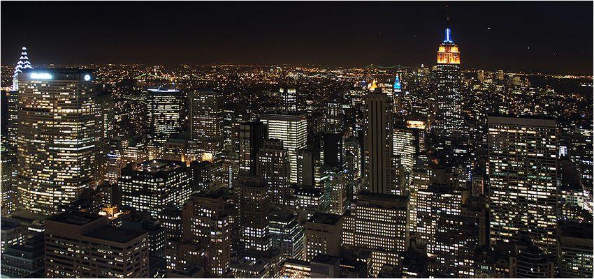 New York vom Dach des Rockefeller Center