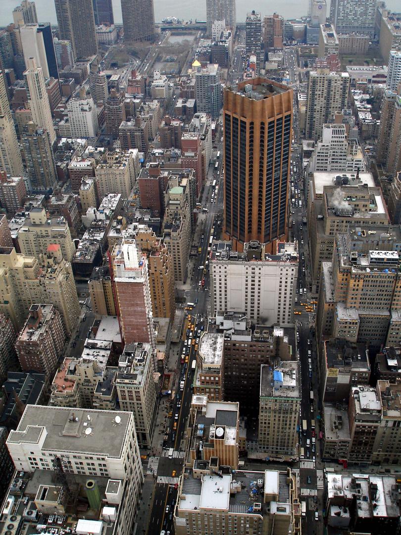 New York vom Empire State Building aus