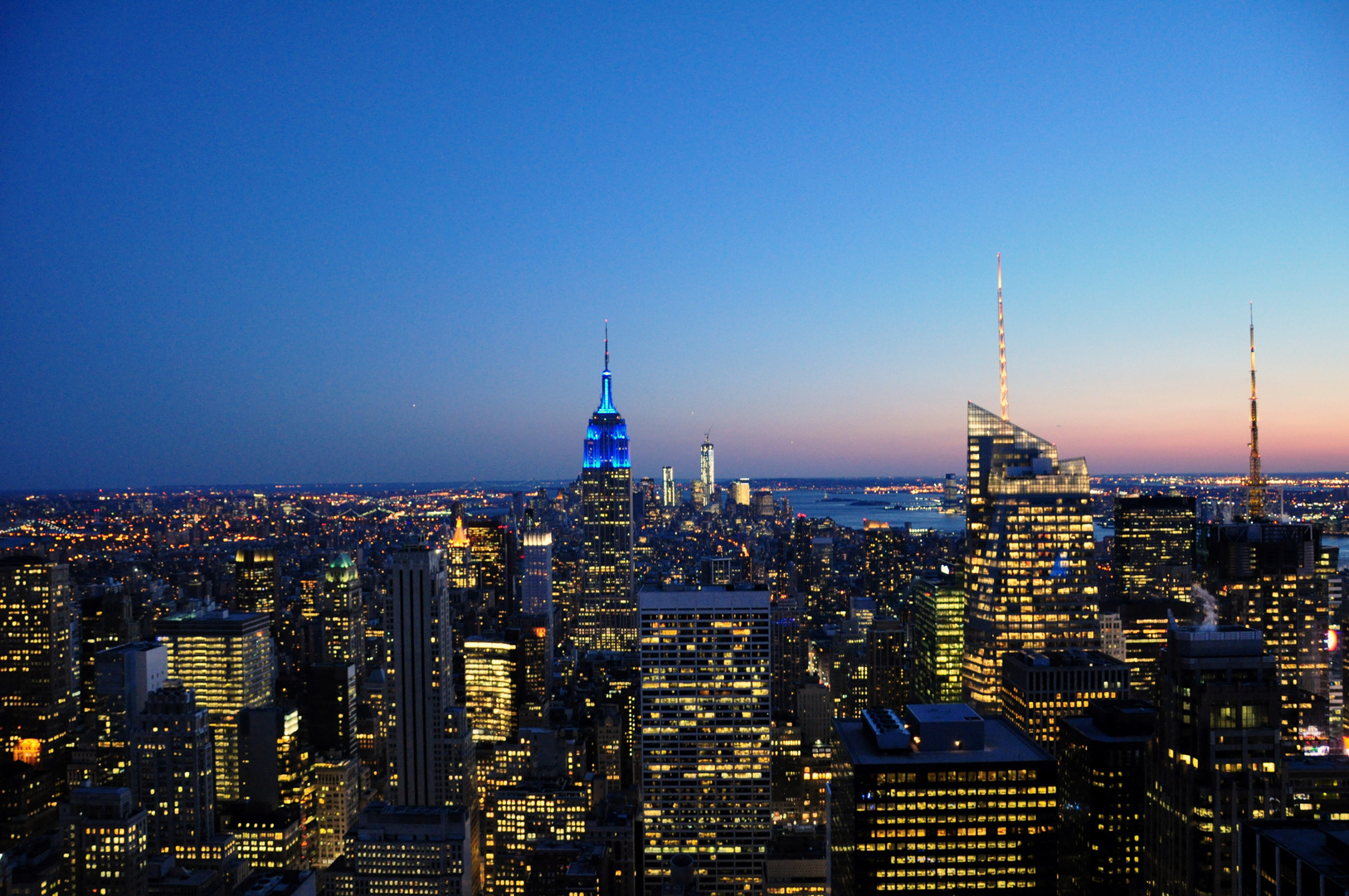 New York zur blauen Stunde