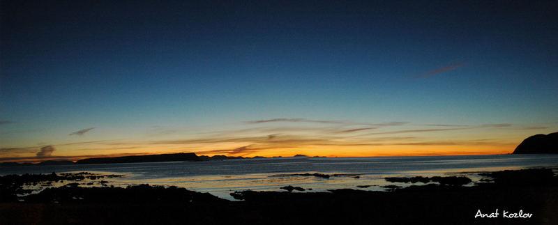 New Zealan sun set