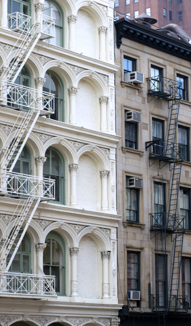 Ney York City, Manhattan, USA, Häuserfronten, SOHO
