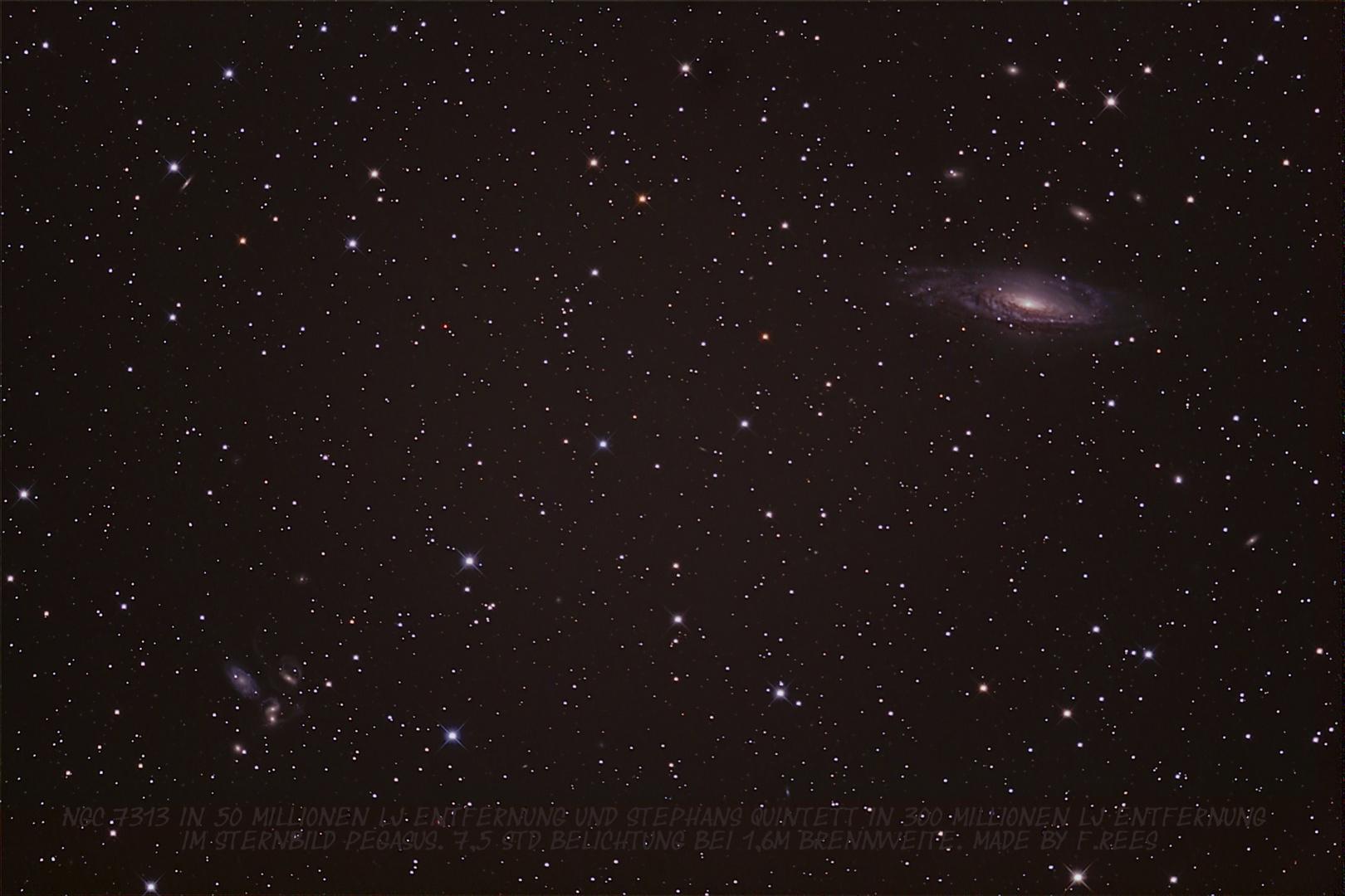 NGC7313 und Stephans Quintett