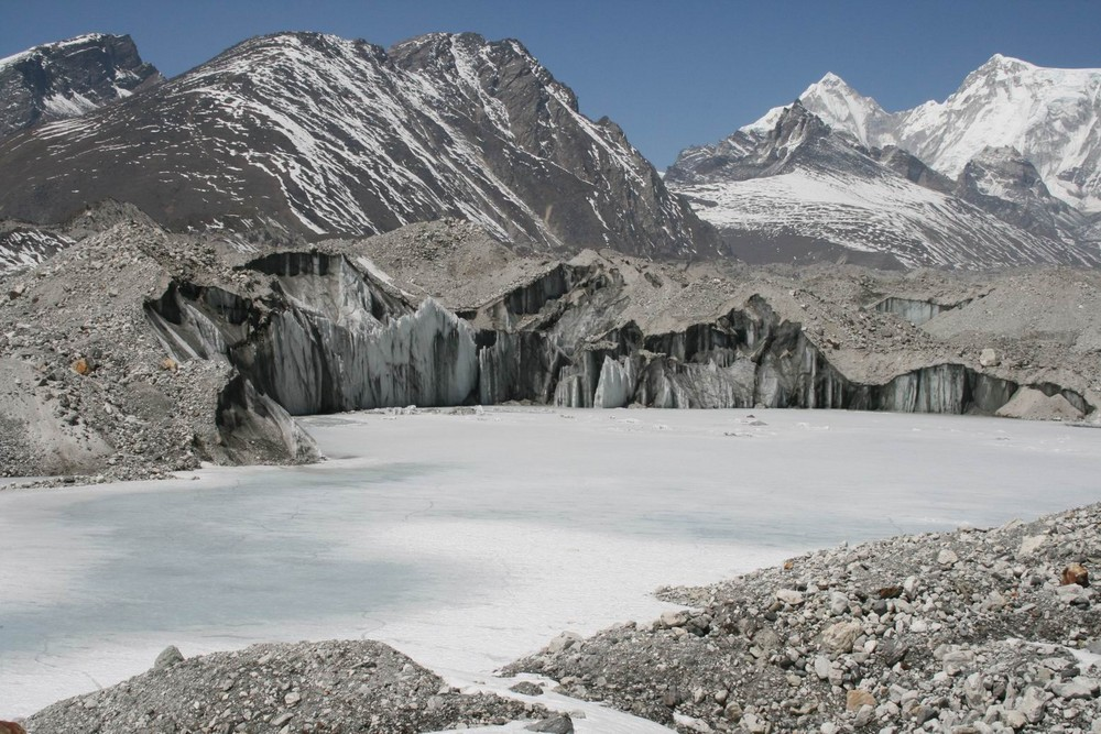 Ngozumpa Gletscher in Nepal 2007