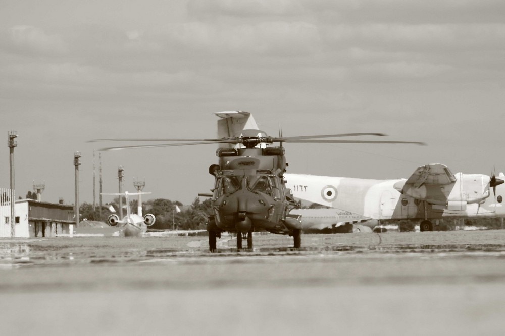 NH 90 rolling in park position