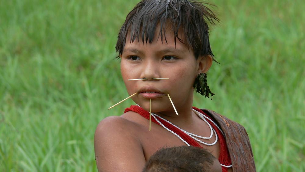 Niña Yanomami, Amazonas al desnudo...