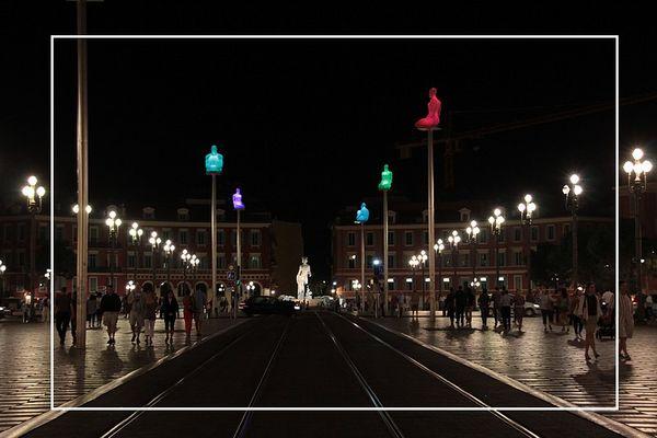Nice la nuit Place Massena