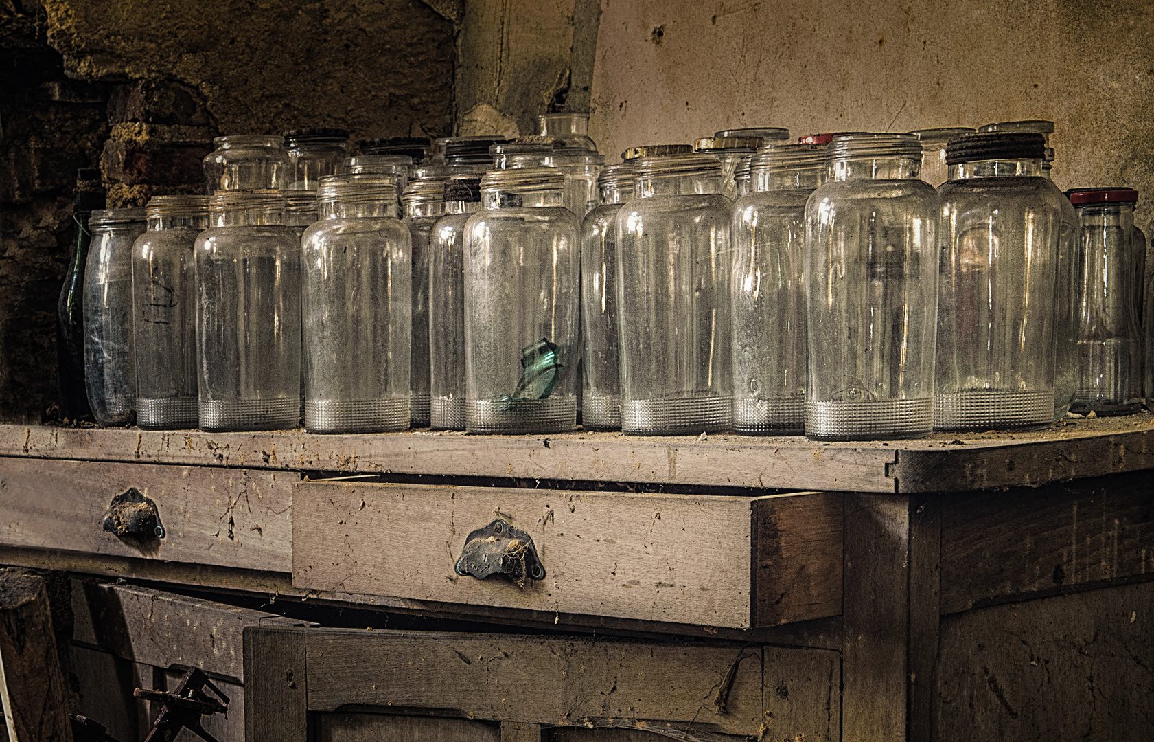 Nicht Flaschen - aber Gläser leer