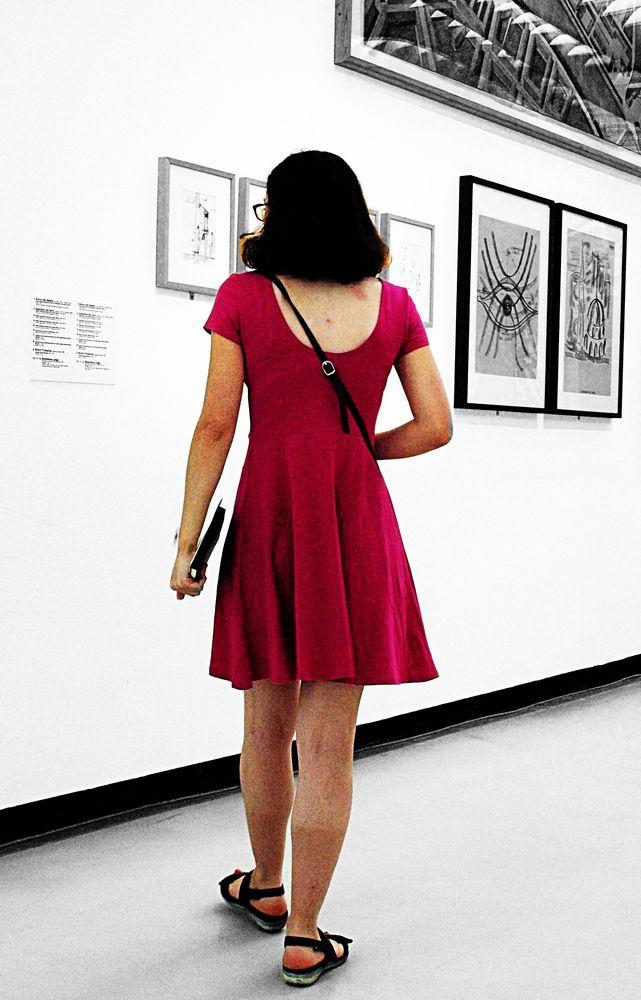 Nicht jeden Tag trägt sie ein Kleid.