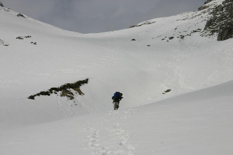 Nicht mehr weit bis zum Gipfel