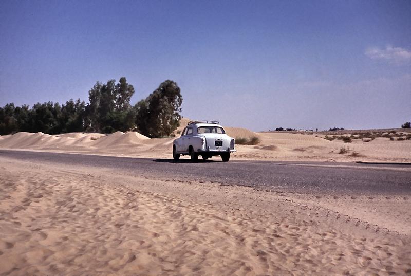 nicht viel Verkehr in der Wüste