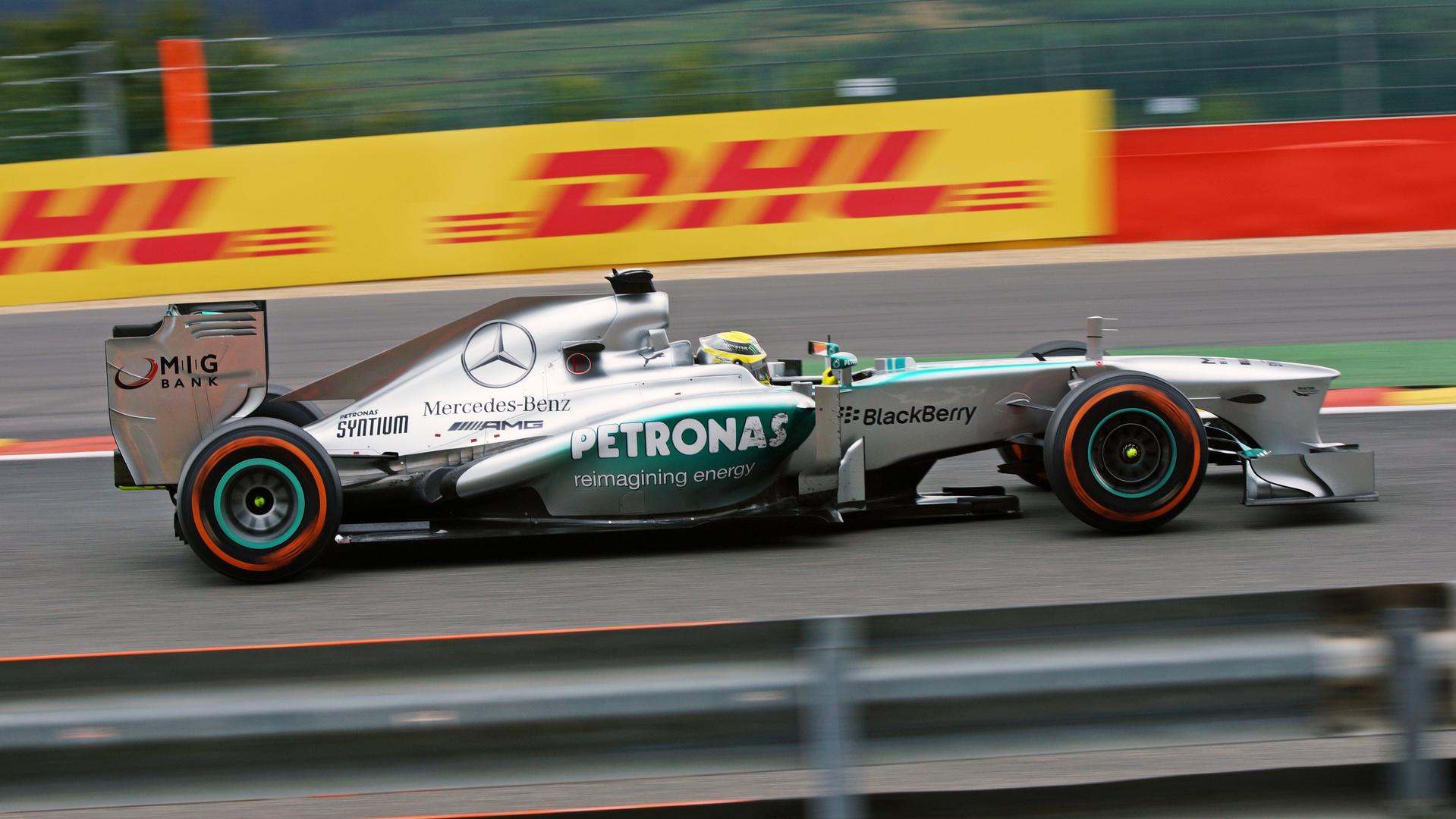 Nico Rosberg im Silberpfeil Spa 2013