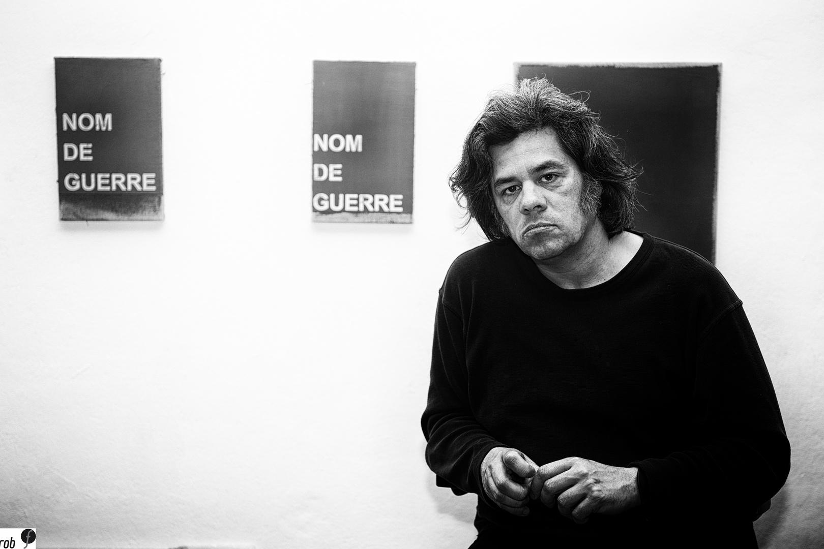 Nicolas Jasmin - french austrian artist in his studio