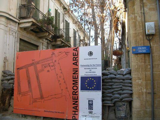 Nicosia, Grenze