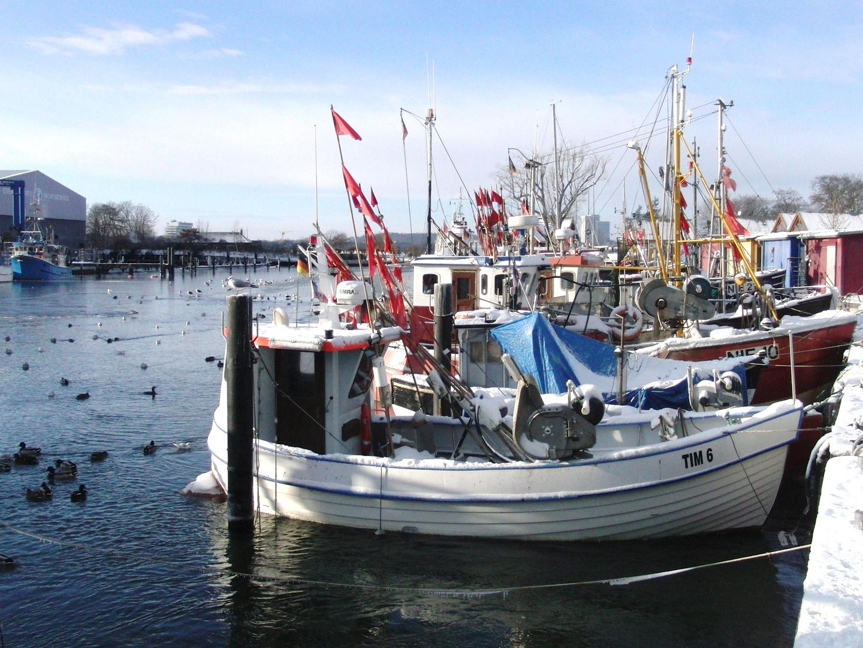 Niendorfer Hafen  im Winter !