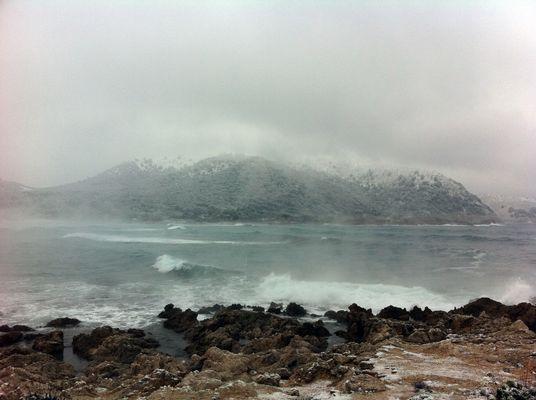 Nieve en Cala Ratjada