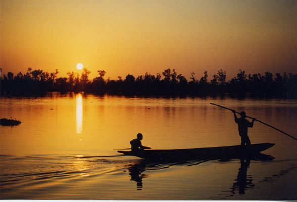 Niger, le fleuve, Niamey, janvier 1999