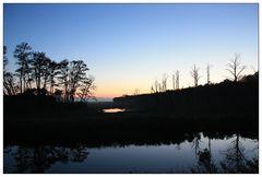 Night falls at Chincoteague Island
