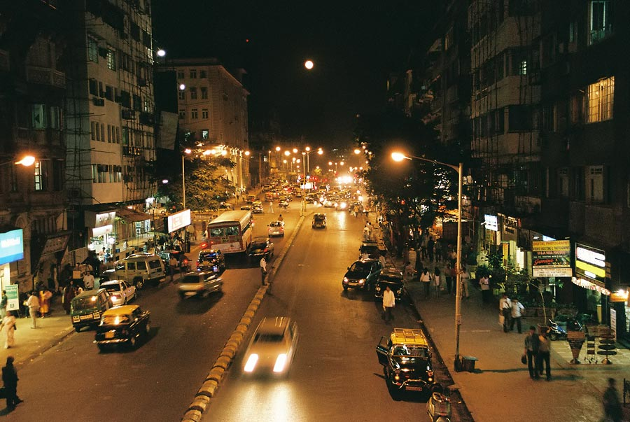 Night in Bombay with real full moon