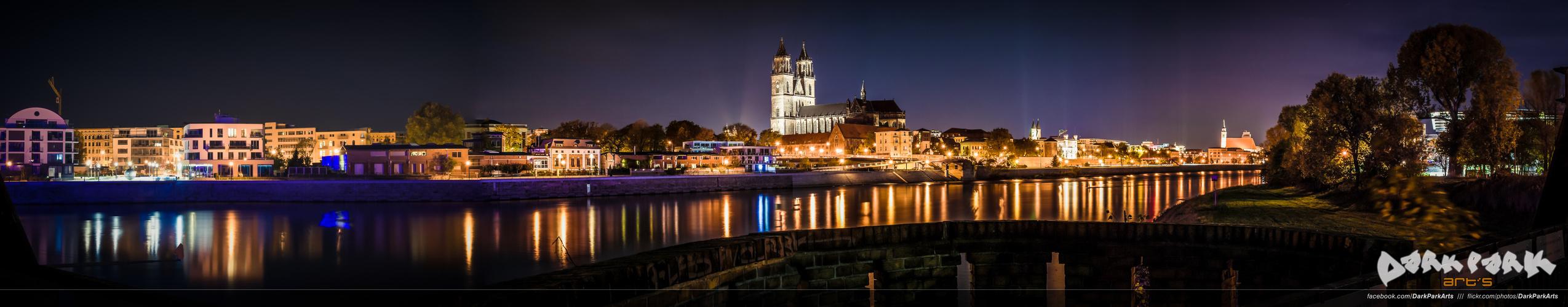 Night Skyline from Magdeburg