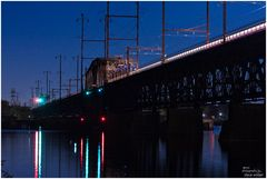 Night Trains - No. 3 - Amtrak Crossing the Susquehanna