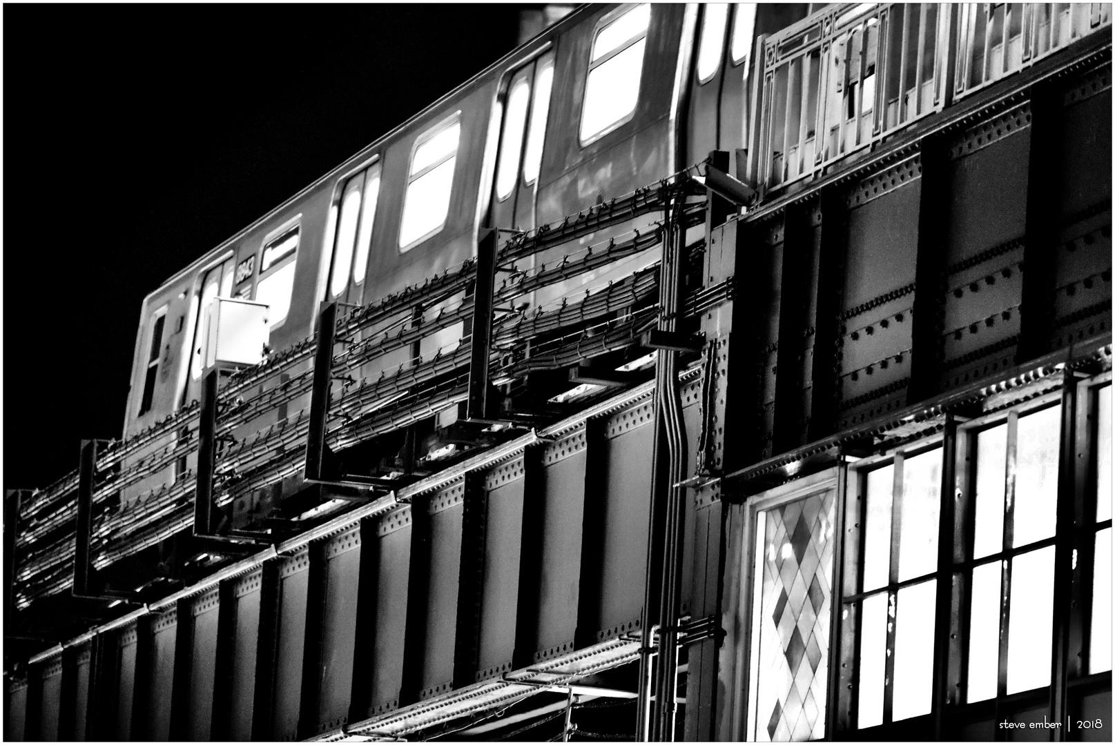 Night Trains - No.6 - Astoria-Bound NYC Subway Train @Queensboro Plaza