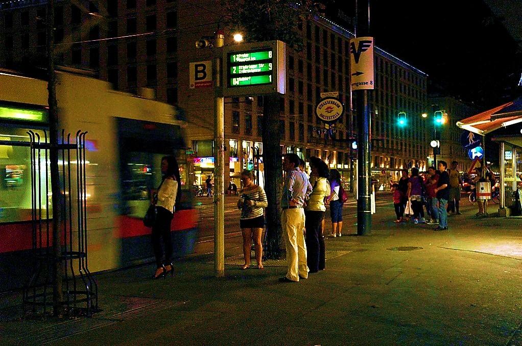 Nightime in Vienna