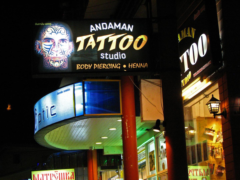 Nightlife at Phuket, Tattoo-Studio