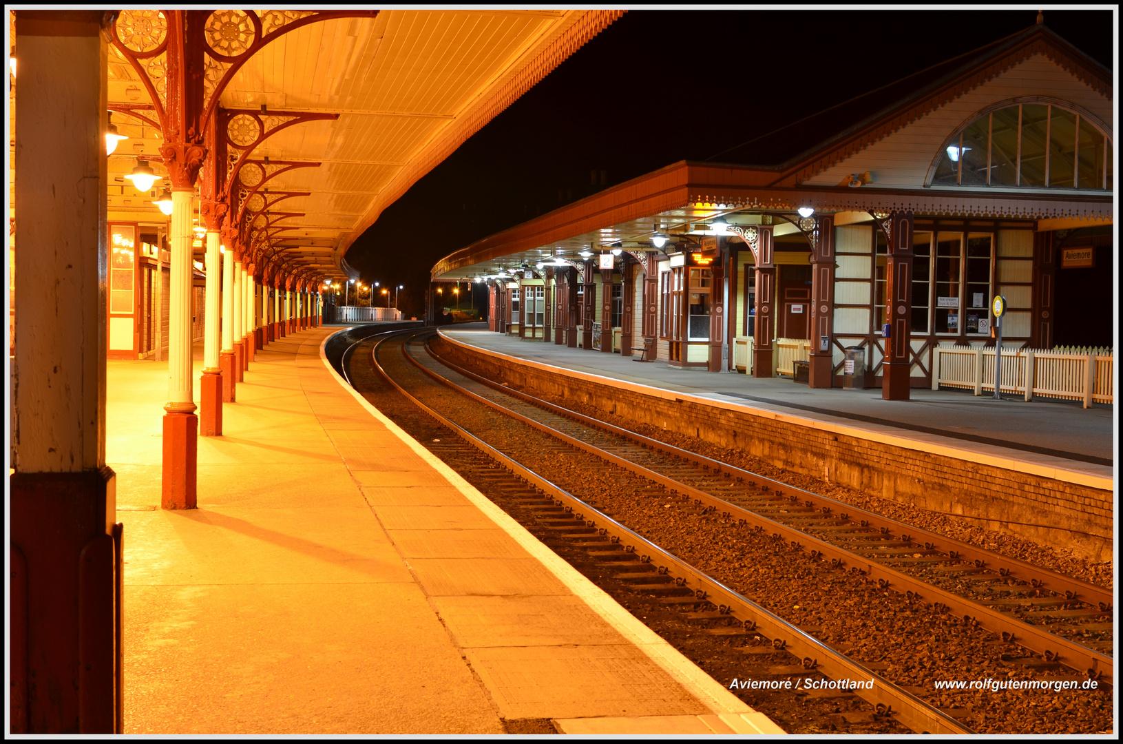 Nightshoot, Railway Station Aviemore