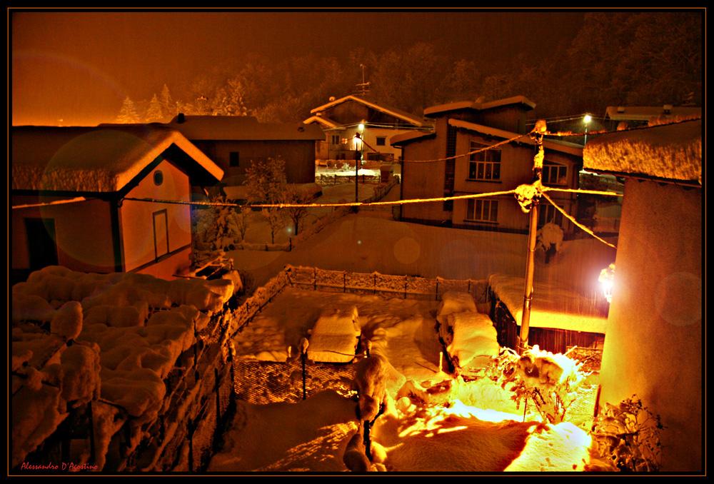 Nightshot con neve