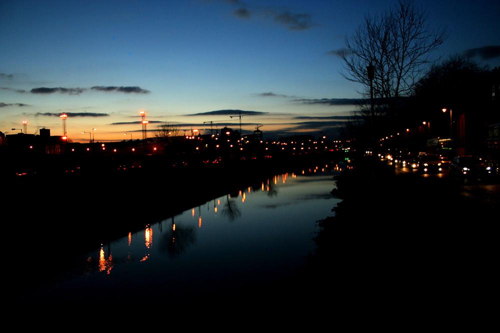 Nightshot of Liffey