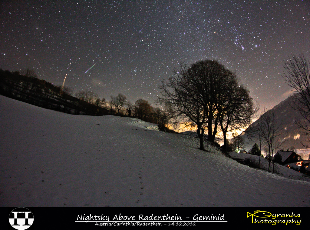 Nightsky Above Radenthein - Geminid