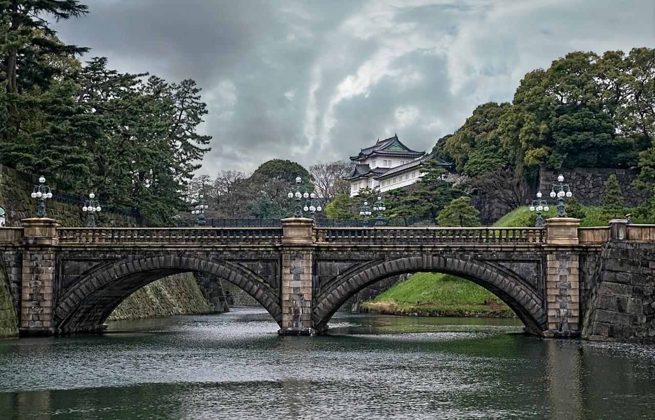 Nijubashi-Brücke - Kaiserpalast Tokyo