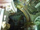 Nikolai-Kirche in Prag - Mála Strána, Detail des Gewölbes u. der Kuppel