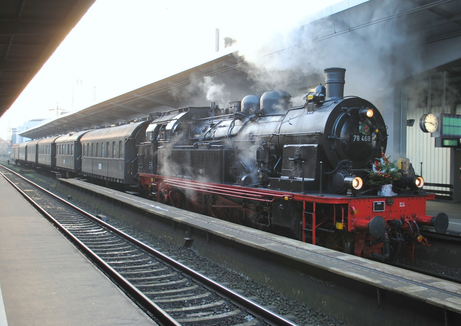 Nikolaus Dampfzug mit 78 468 in Osnabrück