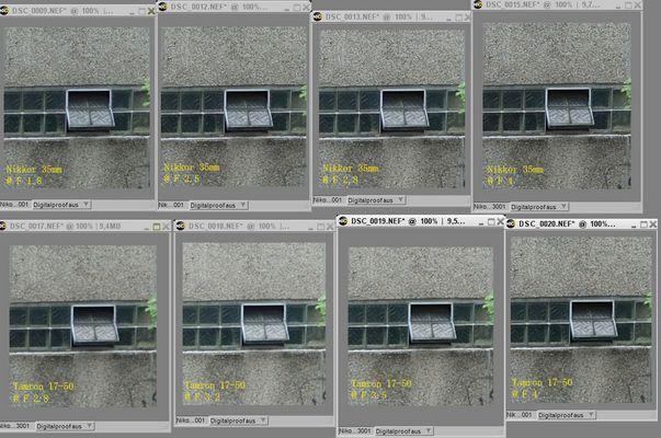 Nikon 35mm 1.8 vs Tamron 17-50 2.8 - 100% Ansicht