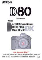 NIKON D80 - Eine Liebeserklärung